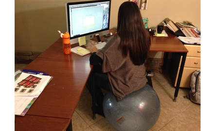 new school sitting: exercise balls | blog | bosu